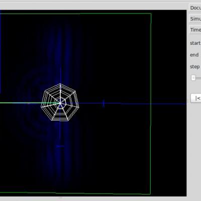 EM Slice simulation planewave